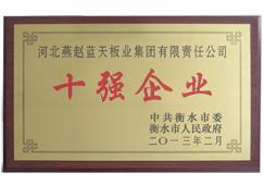 燕赵蓝天-十强企业