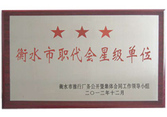 燕赵蓝天-衡水市职代会星级单位