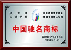 中国驰名商标-诚意牌