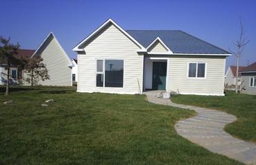 彩涂板-蓝天住宅彩钢板房
